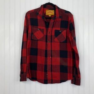 RED CAMEL: Men's Check Plaid Shirt